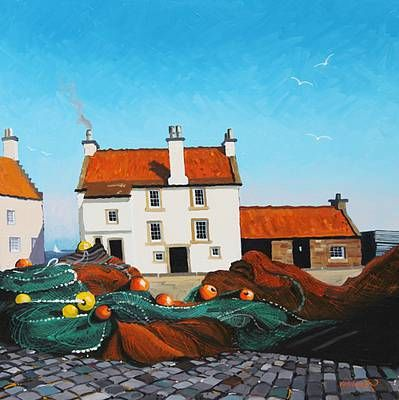 Frank COLCLOUGH artist, paintings and art at the Red Rag Scottish Art Gallery
