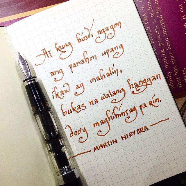 #OPM #music #fountainpen #TWSBI #Diamine #Dark #Brown #ink #moleskine #evernote #martinnievera #videoke