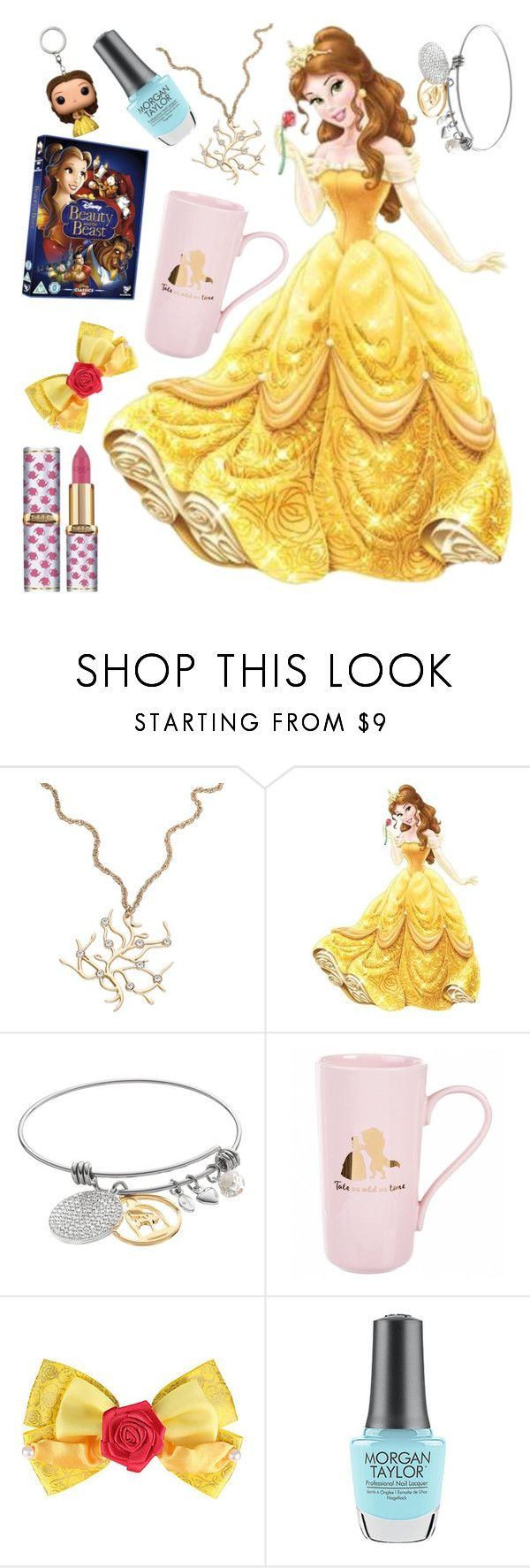 """Belle"" by madelinepieper ❤ liked on Polyvore featuring York Wallcoverings, Disney, L'Oréal Paris and Morgan Taylor"