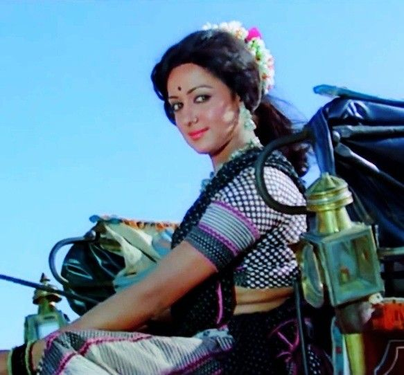 Image result for sholay hema malini
