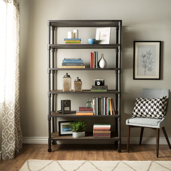 Combine function and style with this Renate gray bookcase  Perfect for any  contemporary or transitional. 294 best Furniture images on Pinterest   Office desks  Accent