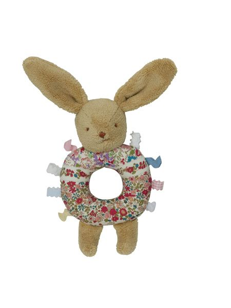 Trousselier Liberty Bunny Rattle Ring