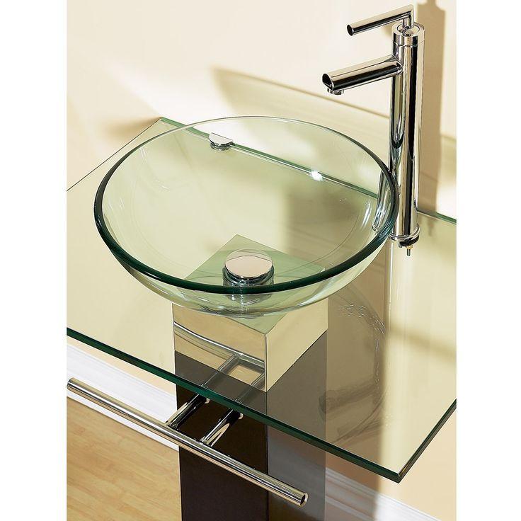 23 bathroom vanities tempered glass vessel sinks combo ...