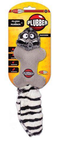 Jakks Plubber Dog Toy, Raccoon, Small - http://www.thepuppy.org/jakks-plubber-dog-toy-raccoon-small/