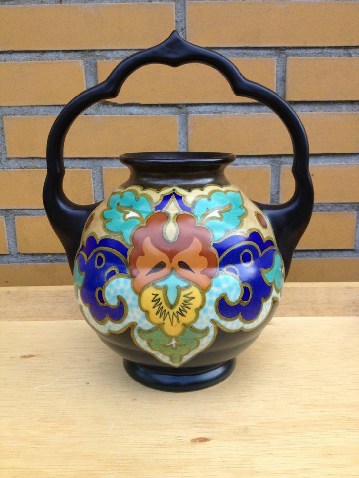 Gouda pottery vase Zuid Holland decor Golba, 1931 picclick.com