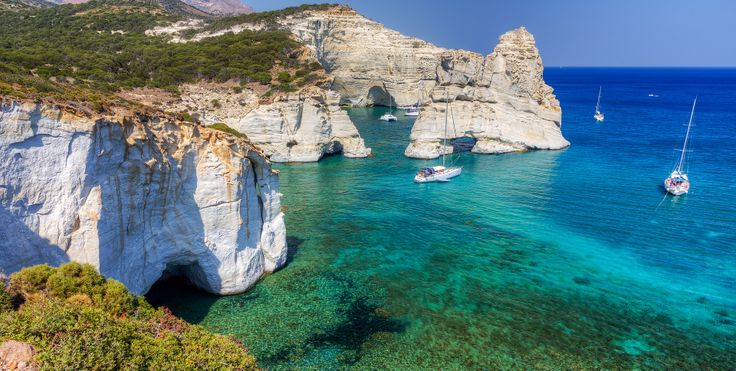 The famous cove of Kleftiko was an old pirates' hideout and now one of the most popular tourist attractions in Milos island. #beaches, #landscape, #greekislands, #greece, #hdrphotography, #hdr, #milos, #kleftiko,
