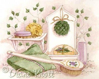 """©Diane Knott """"The Scented Bath II"""""""