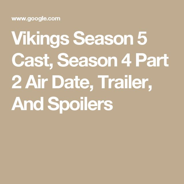 Lucifer Season 4 On Air Date: 1000+ Ideas About Viking Season 2 On Pinterest