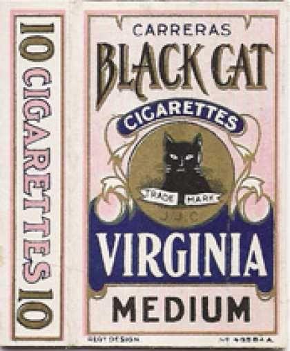 Vintage Carreras Black Cat Cigarette pack