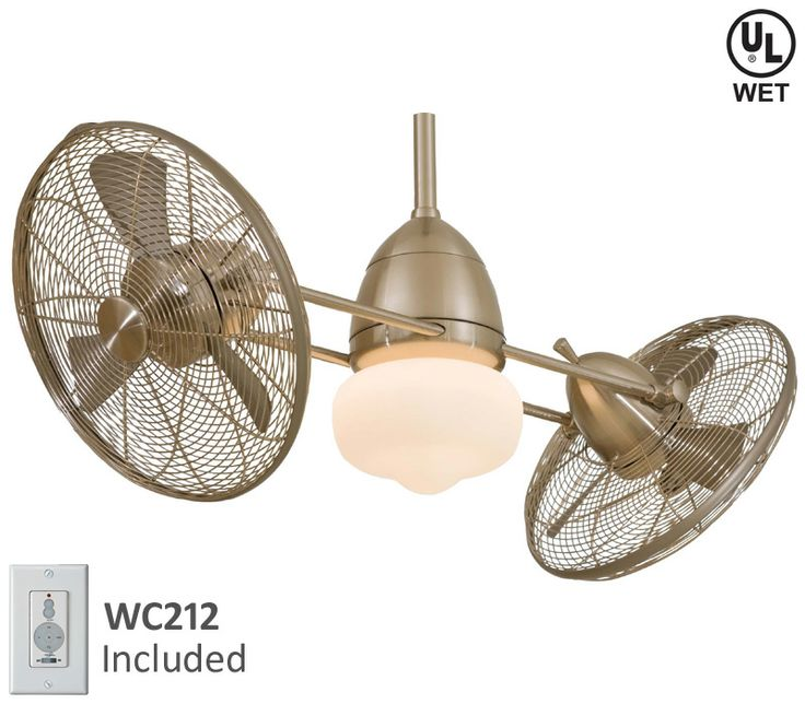 Minka Aire F402 Orb Gyro Wet Oil Bronze Dual 42 Quot Outdoor Ceiling Fan