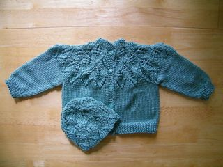 Leafy Baby Sweater by Renata Brenner - free