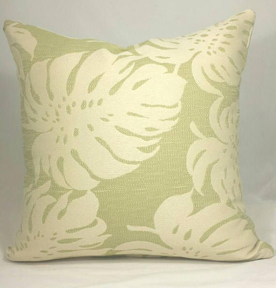Outdoor Tropical Cushion Cover. Multiple sizes available. home decor, decorative pillows, green cushions, neutral cushions, decorative cushions, throw cushions, cushion covers, alexanderkhomes, handmade, living room decor, bedroom decor, beautiful homes, apartment decorating, updating your living space, beautiful design