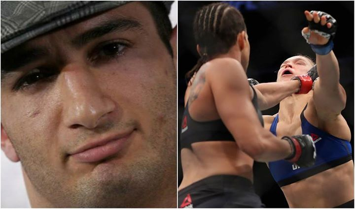 """Gegard Mousasi on Ronda Rousey (via todayonline.com): """"How can the media make her one of the best fighters when she can't even kick or punch? That's like (tennis star) Serena Williams (playing) without a backhand. How do they make her the greatest fighter of all time?"""" #mma #ufc"""