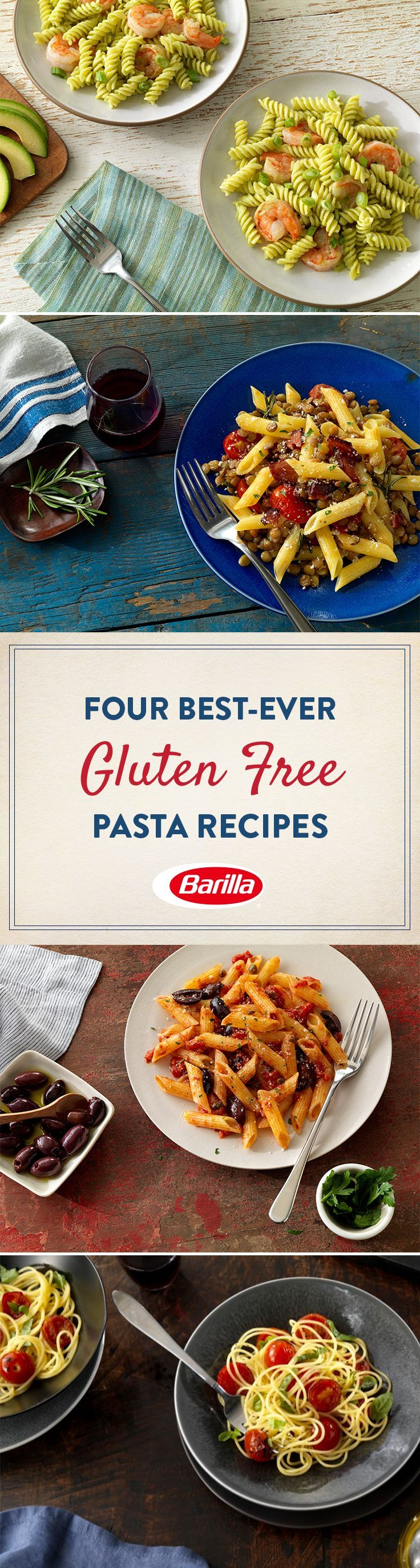 Discover gluten free pasta recipes for wholesome dinner ideas that the whole family will love. Great taste goes gluten free with Barilla pasta!