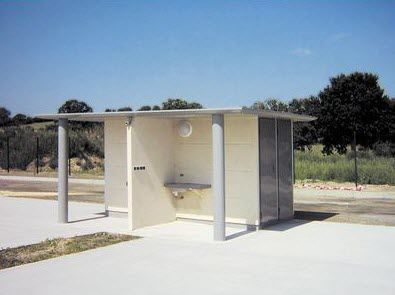 Toilet kiosk / multi-function / outdoor / for public areas SANINOMADE Francioli Creation