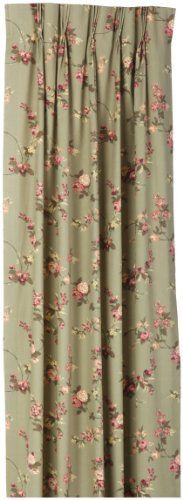 Fireside Floral Pinch Pleated 96 Inch By 84 Inch Patio Door Thermal Insulated  Drapes, Sage By Ellis Curtain. Save 10 Off!. $125.49.