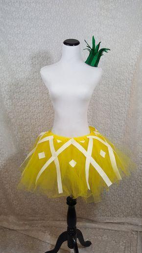 Pineapple Tutu Set ADULT Pineapple Costume Fruit by pearlsandtulle