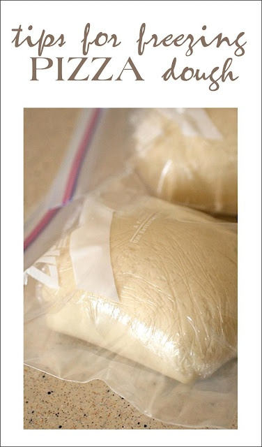 Excellent recipe for Pizza dough and then tips on how to successfully freeze it.