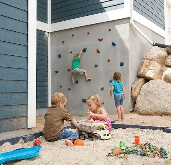 DIY Outdoor Climbing Wall for Kids