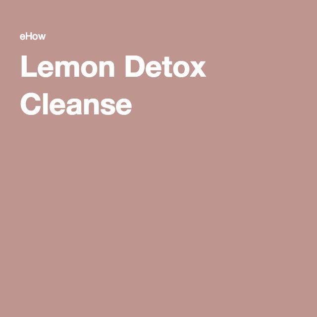 Lemon Detox Cleanse