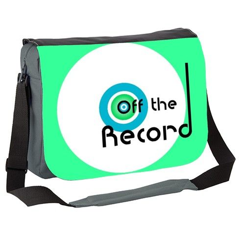 Off The Record Messenger Bag by hoganfinland at zippi.co.uk #bags #white #vinylcollectors #offtherecord #needle #messagerbags #zippi #carryall #fashionbags #retro #green #records #vinyl #designs #graphicdesign #circles #shoulderbags #hipsterbags #cool #zippibags #nowspinning #45rpm