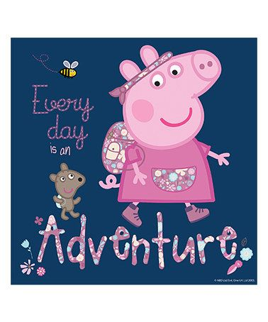 Peppa Pig  Every Day is an Adventure  Gallery Wrapped Canvas  zulily. 110 best PEPPA PIG images on Pinterest   Pigs  Pig birthday and