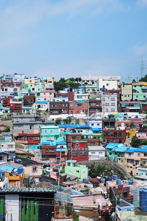 Colorful houses at Gamcheon Culture Village