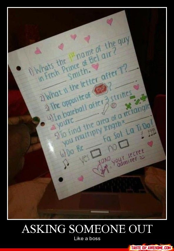 Asking Someone Out Like A Boss. This is awesome.