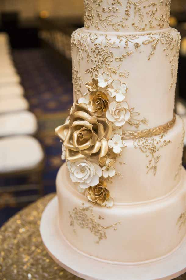 gold and white wedding cake designs wedding cakes and fondant on 14743