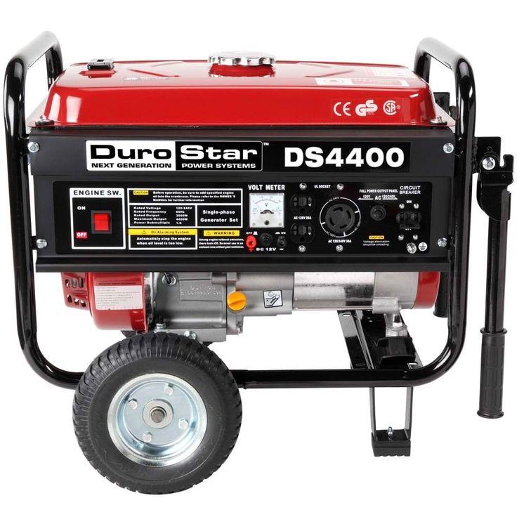 DuroStar 4400 Watt Quiet Portable Recoil Start Gas Powered Generator -RV DS4400 #DUROSTAR