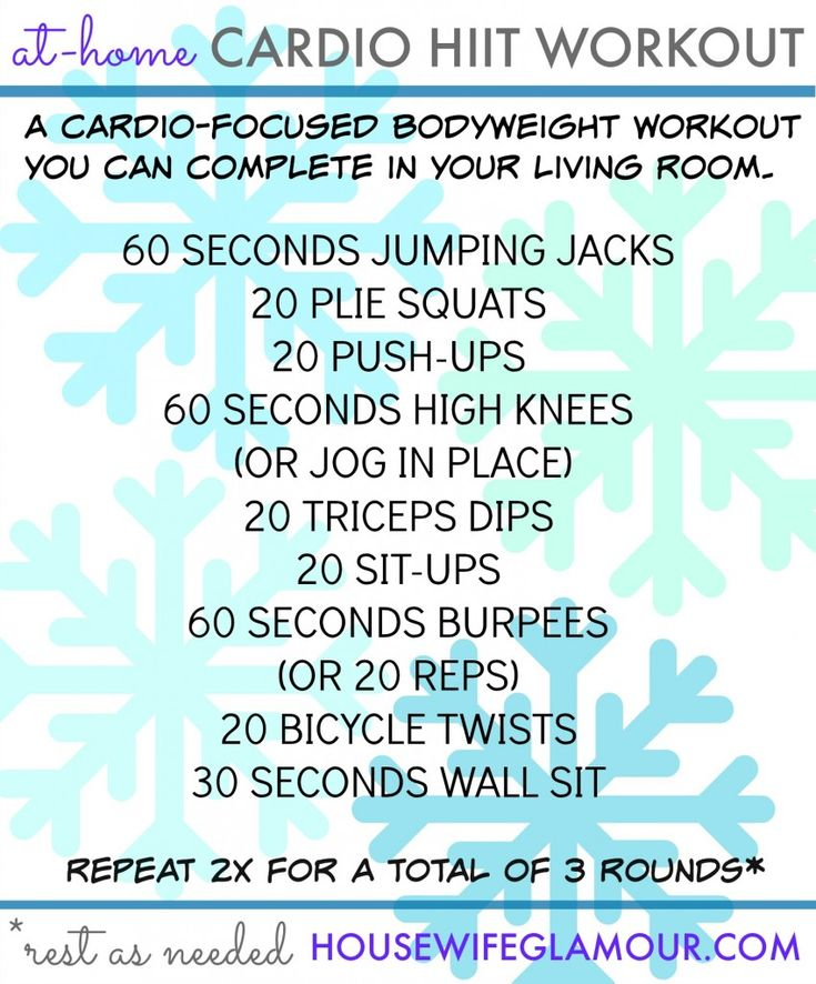 You Can Easily Complete This Cardio Focused HIIT Workout Inside