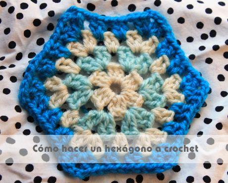 Instrucciones para hacer un hexágono a crochet #tutorial #crochet