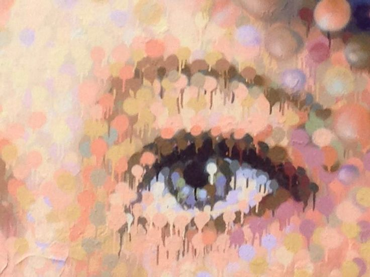 Cochran eye detail. Students studied close ups and made reference to the work of Chuck Close.