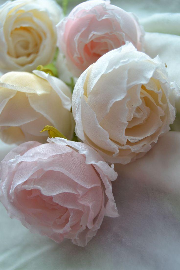 цветы из шелка, ручная работа