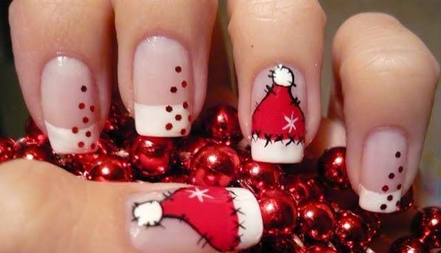 Diseños de nailart súper lindos para navidad. Míralos y practica para tus celebraciones de fin de año: http://www.adoleteen.com/entretenimiento/nail-art-para-celebrar-viste-tus-unas-para-la-navidad/