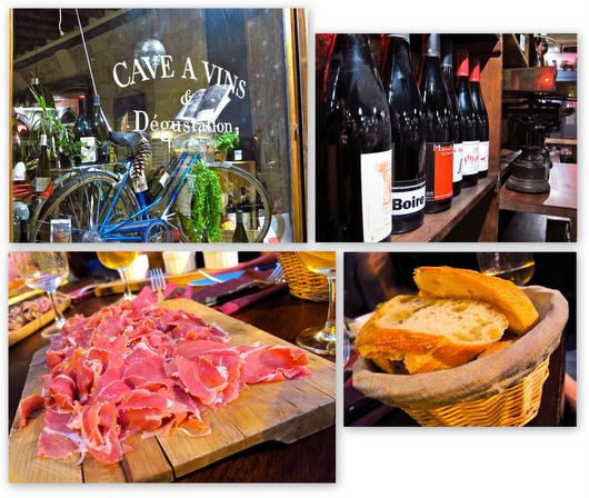 le garde-robe: cozy wine bar in the 1st, wines by the glass always changing, great nibbles, two tables outside....