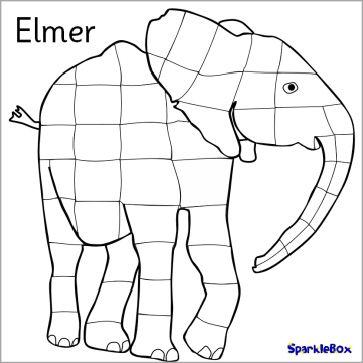 Elmer Colouring For ICT