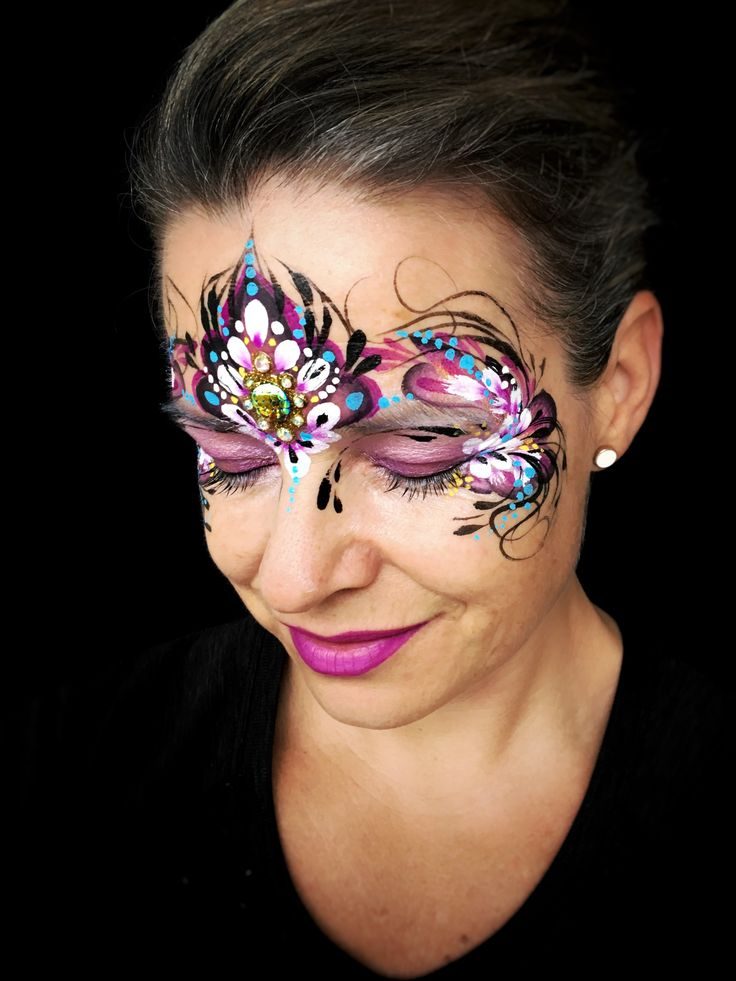 Whimsical flower princess face paint by Kristin Olsson