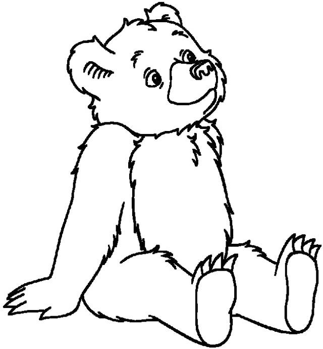 cartoon bears coloring pages - photo #20