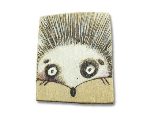 """Spilla legno """"Il riccio"""" realizzata da SERENA BALBO— La Casa di Ninni"""