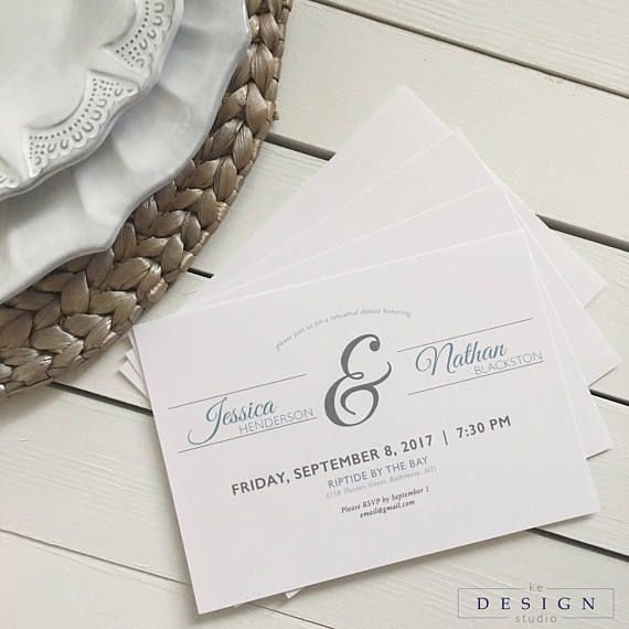 Classic Rehearsal Dinner Invitation with Large Ampersand