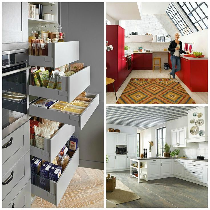 Schüller kitchens come in a variety of colours, styles and functions, so there is a Schüller kitchen for everyone | Red Kitchen | Grey Kitchen | White Kitchen | Country Kitchen | Modern Kitchen | German Kitchens