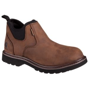 Carhartt Romeo Oxford Waterproof Pull On Work Boots for Men - Brown -