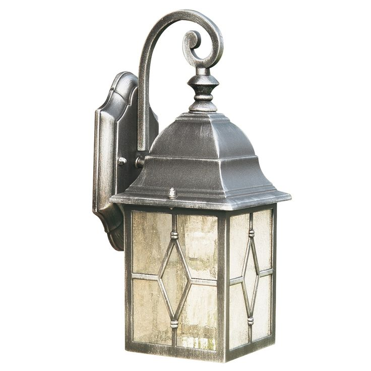Lantern wall light black and silver