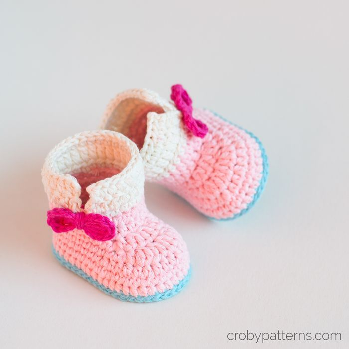 Croby Patterns | Crochet Baby Booties Pattern – Baby Unicorn