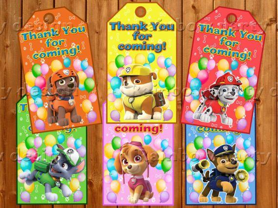 Paw Patrol Thank you cards Paw Patrol birthday Instant