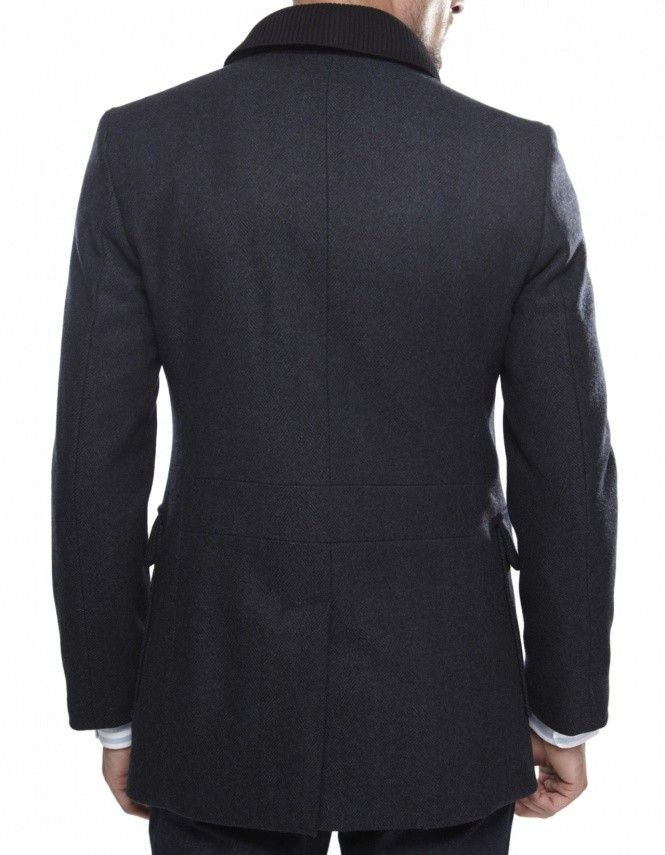 Vivienne Westwood Man Navy Double Collar Peacoat