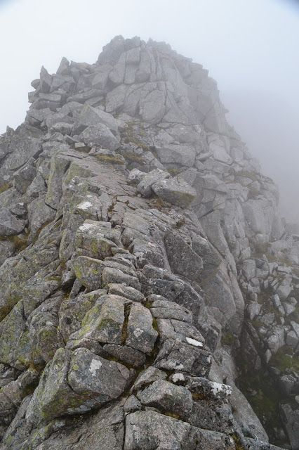 Cairn Mor Dearg Arete, on Ben Nevis Scotland. End of our West Highland Way walk