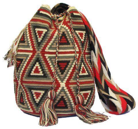 Red Brown Wayuu Mochila Bag  - comprar online