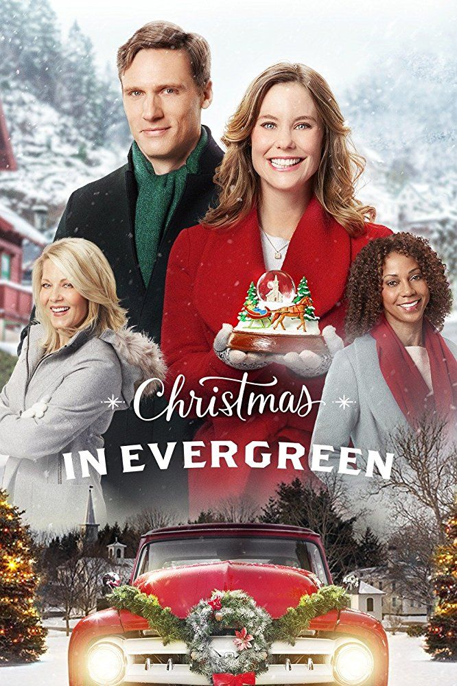 Christmas In Evergreen (2017) Ashley Williams stars in this Hallmark Christmas movie which sees a vet, a widowed doctor and his daughter snowed in the town of Evergreen, Vermont for Christmas